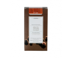KORRES 77.44 Βαφή Μαλλιών με Έλαιο Argan & φυτική Κερατίνη, ΞΑΝΘΟ ΕΝΤΟΝΟ ΧΑΛΚΙΝΟ, 50ml