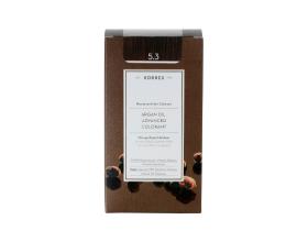 KORRES 5.3 Βαφή Μαλλιών με Έλαιο Argan & φυτική Κερατίνη, ΚΑΣΤΑΝΟ ΑΝΟΙΚΤΟ ΧΡΥΣΟ/ΜΕΛΙ, 50ml