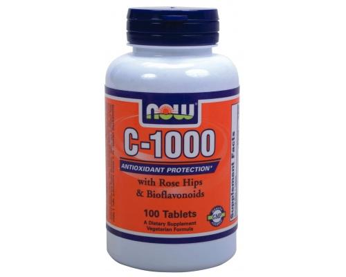 Now Foods C-1000 (with Rose Hips & Bioflavonoids), Συμπλήρωμα Διατροφής με αντιοξειδωτικές ιδιότητες, 100 ταμπλέτες