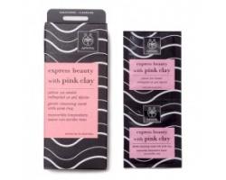APIVITA Express Beauty Μάσκα για Απαλό Καθαρισμό με ροζ άργιλο 2*8ml