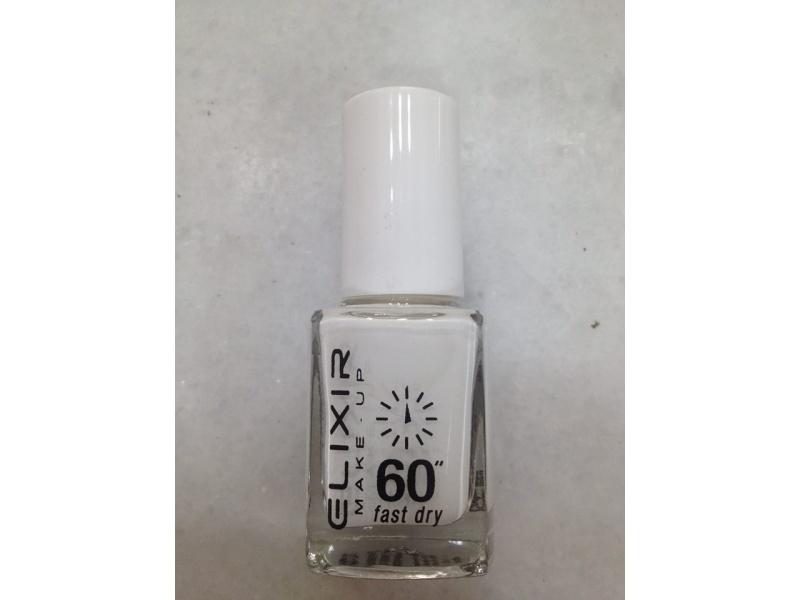 ELIXIR London Nail Polish Fast dry nail polish color white N03 13ml