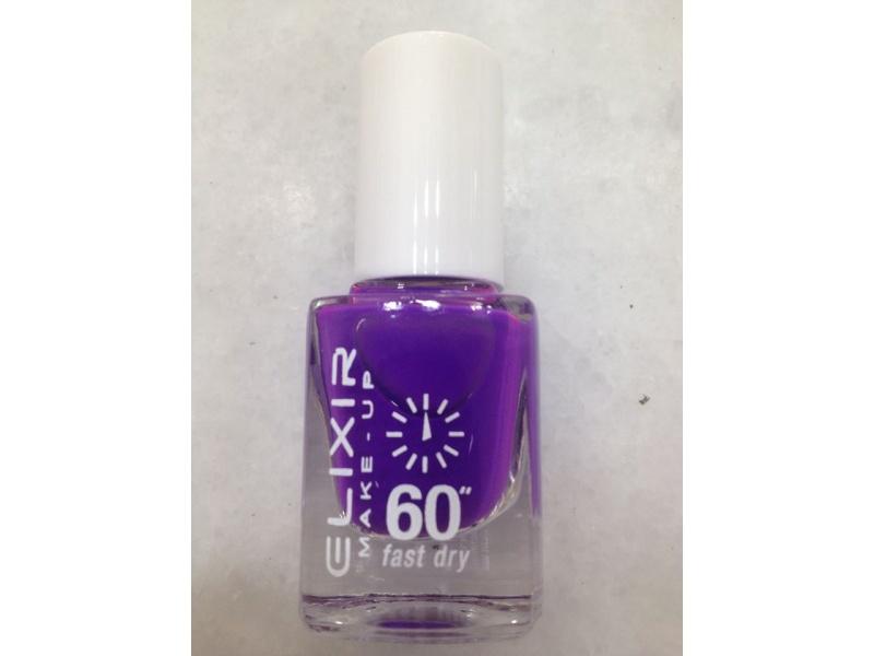 ELIXIR London Nail Polish Fast dry nail polish color purple N108 13ml