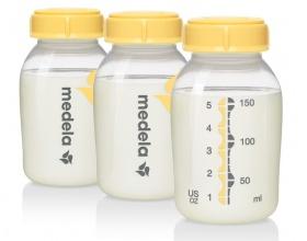 Medela Breastmilk Bottles for Storage & Feeding 3Χ150ml