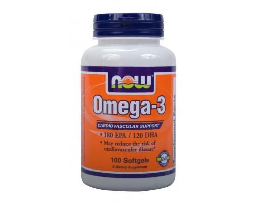 Now Foods Omega-3 1000mg, Συμπλήρωμα Διατροφής που βοηθά να έχετε υγιείς αρθρώσεις, υγιές μυαλό, υγιείς διαθέσεις, και μια υγιή καρδιά, 100 μαλακές κάψουλες