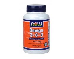 Now Foods Omega 3-6-9 1000mg, Συμπλήρωμα Διατροφής χρήσιμος για την κυτταρική προστασία, την υγεία του εγκεφάλου και του καρδιαγγειακού συστήματος, 100 μαλακές κάψουλες