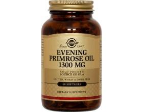 SOLGAR Evening Primprose Oil 1300mg 30softgels, Λιπαρά οξέα που είναι χρήσιμα σε περιπτώσεις προεμμηνορροϊκών συμπτωμάτων, εμμηνόπαυσης και ενίσχυσης της έκκρισης των σεξουαλικών ορμονών