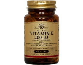 SOLGAR Vitamin E 200iu 50 softgels, Φυσικής πηγής βιταμίνη Ε με ισχυρή αντιοξειδωτική δράση