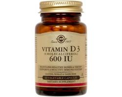 SOLGAR Vitamin D3 600iu 60veg.caps, Συμπλήρωμα Διατροφής που βοηθά στην απορρόφηση & αξιοποίηση του ασβεστίου & του φωσφόρου από τα οστά