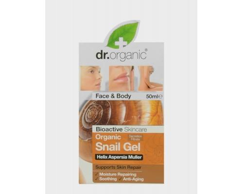 Dr. Organic Organic Snail Gel 50ml, Τζέλ με αναπλαστικές ιδιότητες, προσφέρει έντονη επανορθωτική και επουλωτική δράση σε πρόσωπο και σώμα