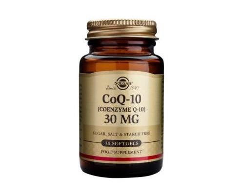Solgar CoQ-10 30mg Συμπλήρωμα διατροφής με  αντιοξειδωτικές ιδιότητες 30 μαλακές κάψουλες