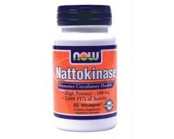 Now Foods Nattokinase 100 mg, Συμπλήρωμα Διατροφής που υποστηρίζει την υγεία της καρδιάς και προάγει την υγιή κυκλοφορία, 60 κάψουλες