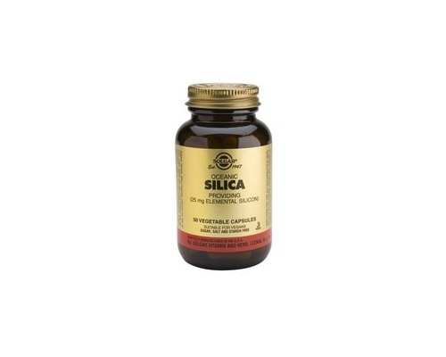 Solgar Oceanic Silica 25mg veg.caps 50s, Συμπλήρωμα Διατροφής που βοηθά στην καλή υγεία Οστών, μαλλιών, δέρματος, νύχιών και δόντιών