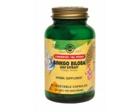 SOLGAR SFP Gingko Biloba Leaf Extract 60veg.caps, Συμπλήρωμα Διατροφής που βοηθά σε περιπτώσεις αδύνατης μνήμης, κατάθλιψης, απώλειας εγρήγορσης, εμβοών, κρύων άκρων και γεροντικής άνοιας