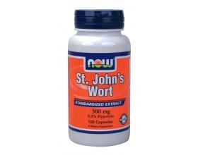 Now Foods St. John's Wort 300 mg, Συμπλήρωμα Διατροφής που  χρησιμοποιείται ιδιαίτερα, για την αντιμετώπιση καταστάσεων άγχους, της ήπιας έως μέτριας μορφής κατάθλιψης και τις διαταραχές του ύπνου, 100 κάψουλες