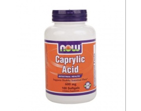 Now Foods Caprylic Acid 600 mg, Συμπλήρωμα Διατροφής που βοηθάει στην πέψη, την εντερική χλωρίδα αλλα προσφέρει και αντιμυκητιακές ιδιότητες, 100 μαλακές κάψουλες
