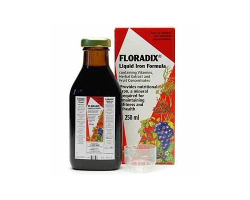 Power Health Floradix Liquid Iron Formula 250ml, Συμπλήρωμα Διατροφής Με Οργανικό Σίδηρο Και Βιταμίνες C,B1,B2,B6, Και B12