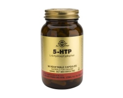 SOLGAR 5-HTP 100mg, Συμπλήρωμα Διατροφής χρήσιμο σε διαταραχές όπως κατάθλιψη, αϋπνία, ινομυαλγία, πονοκέφαλοι καθώς και σε περιπτώσεις βουλιμικής παχυσαρκίας, 30 κάψουλες