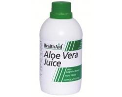 Health Aid Aloe Vera Juice 500ml,  Συμπυκνωμένος Χυμός Αλόης Βέρα ιδανικός για την καλή υγεία του στομάχου, των πτυχώσεων του εντέρου και την αποτοξίνωση του οργανισμού