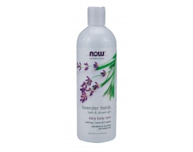 Now Foods Lavender Fields Bath & Shower Gel 473ml, Ηρεμιστικό και χαλαρωτικό τζελ καθαρισμού με φυσικα εκχυλίσματα που προσφέρουν απαλότητα και καθαριότητα