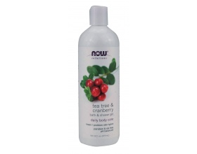 Now Foods Tea Tree & Cranberry Bath & Shower Gel 473,1ml, Αναζωογονητικό τζελ καθαρισμού με τονωτικές και επιδιορθωτικές ιδιότητες