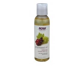 Now Foods Grapeseed Oil 118ml, 100% Αγνό Έλαιο απο σταφύλλι για ενυδάτωση και προστασία απο την πρόωρη γήρανση του ευαίσθητου δέρματος