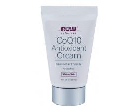 Now Foods CoQ10 Antioxidant Cream 59ml, Κρέμα προσώπου με υαλουρονικό οξύ για φυσική αποκατάσταση των ζημιών και ελαττωμάτων του ώριμου δέρματος