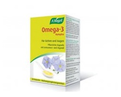 A. Vogel Omega-3 Complex, Συμπλήρωμα διατροφής από φρέσκο έλαιο λιναρόσπορου για τη σωστή λειτουργία του οργανισμού 30 κάψουλες