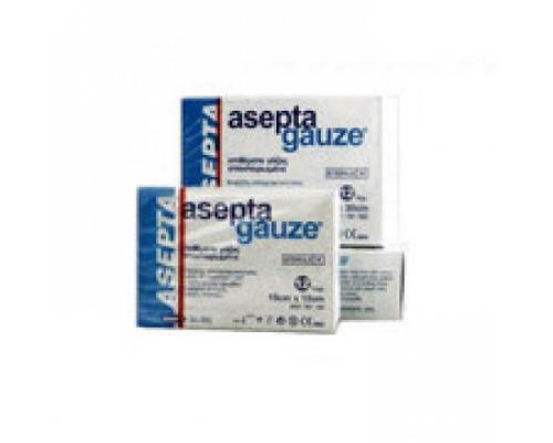 Asepta Gauze, Αποστειρωμένα επιθέματα γάζας υψηλής απορροφητικότητας 17 cm X 30cm 12 τεμάχια