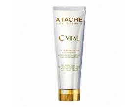 Atache C Vital AHA Gel Hidro-Protector, Ενυδατική κρέμα με γλυκολικό οξύ, βιταμίνες C, E, προβιταμίνη Α, α-λιποϊκό οξύ για μικτές-λιπαρές επιδερμίδες 50ml