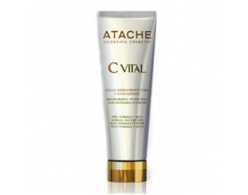 Atache C Vital AHA Cream Ενυδατική Κρέμα Ημέρας , με γλυκολικό οξύ, βιταμίνες C, E, προβιταμίνη Α, α-λιποϊκό οξύ για κανονική ή ξηρή επιδερµίδα 50ml