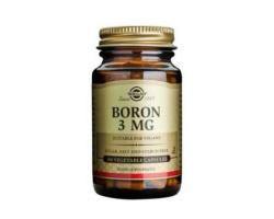 Solgar Boron 3mg Συμπλήρωμα Διατροφής Βόριο είναι ένα σημαντικό ιχνοστοιχείο, το οποίο βοηθάει στο μεταβολισμό του ασβεστίου, του μαγνησίου και της βιταμίνης D 100 κάψουλες