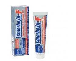 Intermed Chlorhexil-F Οδοντόπαστα με ήπια αντισηπτική δράση  χλωρεξιδίνης 0,1 % και fluoride 0,1 % ιδανικό για την καθημερινή  περιποίηση των δοντιών 100ml