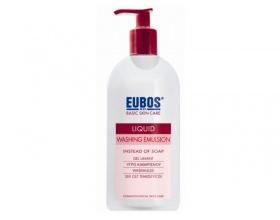 Eubos Red Liquid Washing Emulsion, υγρό καθαρισμού για κανονικό και μικτό δέρμα με φυσιολογικό ph 400ml