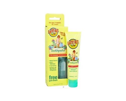 Earth's Best Toothpaste, Βρεφική οδοντόπαστα με φυσική φράουλα και μπανάνα 45 γρ