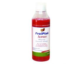 FROIKA Froiplak Homeo, Φθοριούχο στοματικό διάλυμα κατά της τερηδόνας της μικροβιακής πλάκας και του ερεθισμού των ούλων, με γεύση μήλο-κανέλα 250ml