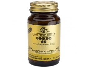 Solgar Ginkgo Biloba 60 Συμπλήρωμα Διατροφής που βοηθά στη μνήμη του εγκεφάλου (απώλεια μνήμης), αντιοξειδωτικό 60 κάψουλες