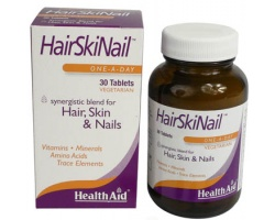Health Aid Hair Skin Nail Συνδιασμός συστατικών για μαλλιά δέρμα και νύχια 30 ταμπλέτες ΗΜΕΡΟΜ ΛΗΞ 10/19