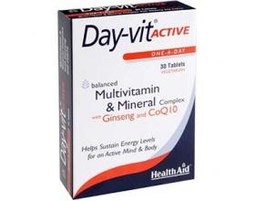 Health Aid Day-vit Active, Συμπλήρωμα διατροφής για ζωντάνια και πνευματική ενέργεια 30 ταμπλέτες