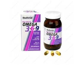 Health Aid Omega 3-6-9 60caps, Συμπλήρωμα Διατροφής για την καλή υγεία του καρδιαγγειακού συστήματος, του εγκεφάλου και την μείωση της χοληστερίνης