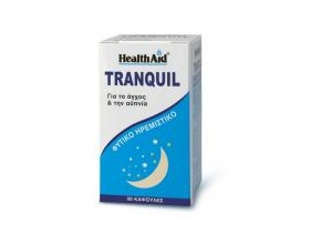 Health Aid Tranquil, Συμπλήρωμα διατροφής μείγματαν βοτάνων με ηρεμιστική δράση, για το άγχος και τη νευρικότητα 30 κάψουλες