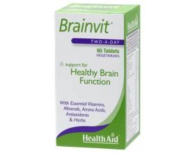 Health Aid BRAINVIT, Βιταμίνες για τη σωστή λειτουργία του εγκεφάλου 60 ταμπλέτες