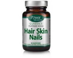 Power Health CLASSICS Platinum Range Hair Skin Nails Συμπλήρωμα διατροφής για τη διατήρηση της φυσιολογικής υγείας των μαλλιών, του δέρματος και των νυχιών 30 κάψουλες