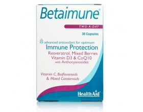 Health Aid Betaimune 30 κάψουλες, Συμπλήρωμα Διατροφής που ενισχύει και προστατεύει το ανοσοποιητικό και καταπολεμά τις ελεύθερες ρίζες