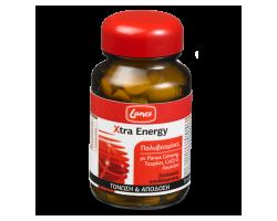 LANES Multivitamin Xtra energy,Συμπλήρωμα διατροφής με ginseng, ταυρίνη και CoQ10 και τόνωση και απόδοση μέσα στη μέρα 30 ταμπλέτες