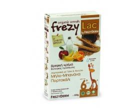 FREZYLAC Organic Cereals,Βιολογική κρέμα για βρέφη μετά τον 6ο μήνα,μήλο-μπανάνα-πορτοκάλι 200g