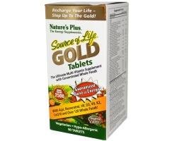 Nature's Plus Source of Life Gold, Πολυβιταμινούχο συμπλήρωμα διατροφής για ενέργεια και τόνωση 90 ταμπλέτες