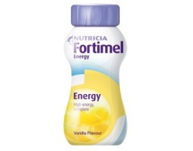 NUTRICIA FORTIMEL ENERGY, drinking nutritious liquid formula for patients with increased energy needs and vanilla 200ml