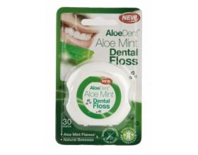 Optima Aloe Mint Dental Floss Οδοντικό νήμα, Με Aloe Vera για ανακούφιση των ούλων & επικάλυψη από φυσικό κερί μέλισσας, για εύκολη διείσδυση ανάμεσα στα δόντια, για 65+ χρήσεις