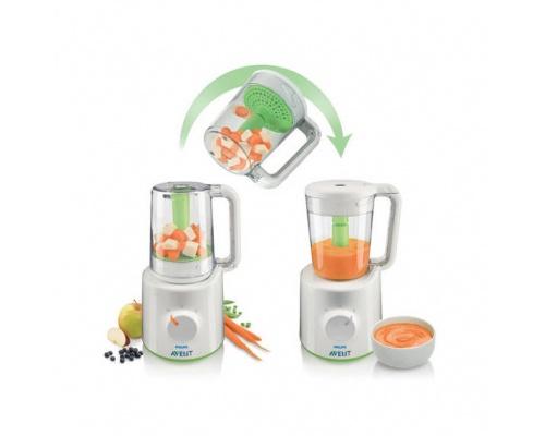 Philips Avent Ατμομάγειρας/Μπλέντερ SCF870/20 για ευκολότερη προετοιμασία φαγητού 1 τεμάχιο