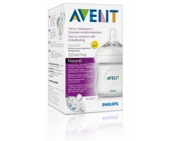PHILIPS AVENT SCF690/17 Natural Feeding Bottle with silicone nipple 0m + 125ml 1 piece